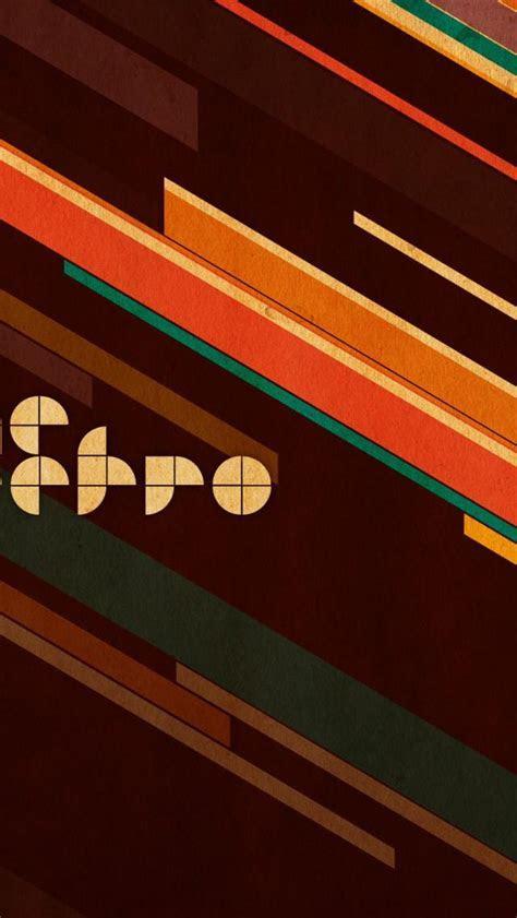 Retro Lines Texture iPhone 5 Wallpaper / iPod Wallpaper HD