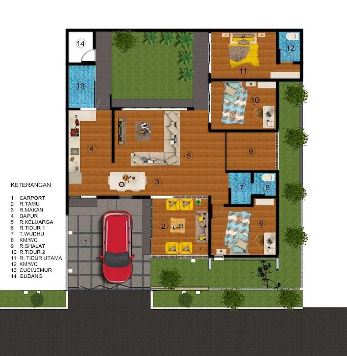 Denah Rumah Minimalis Dengan Garasi | Ide Rumah Minimalis