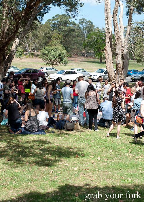 sydney food blogger christmas picnic 2012
