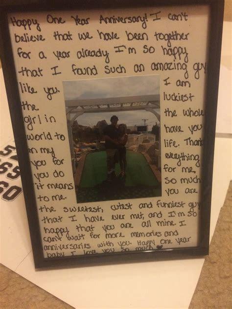 one year anniversary gift for my boyfriend!   When