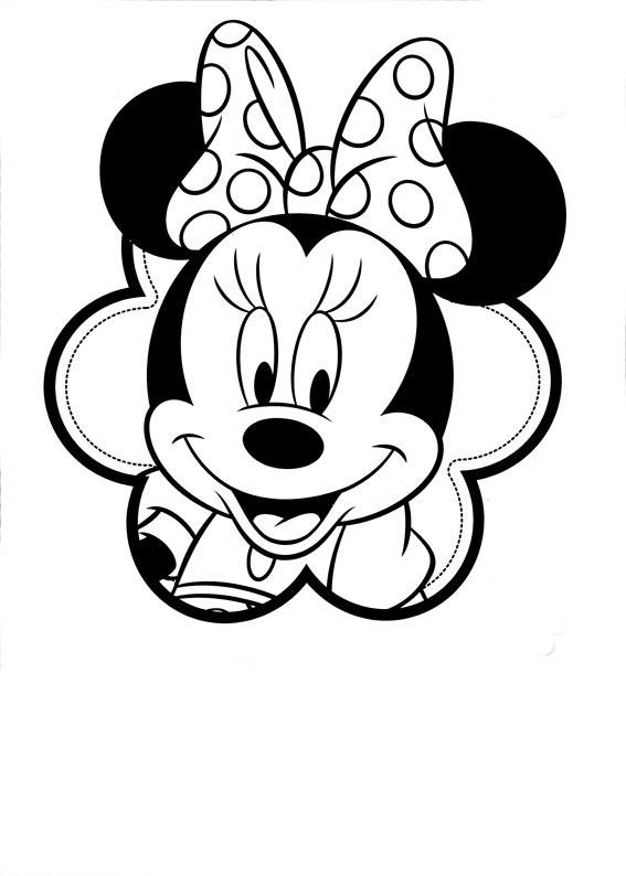 Minnie Para Colorear Pintar E Imprimir