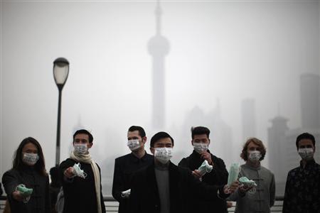 写真:上海大気汚染