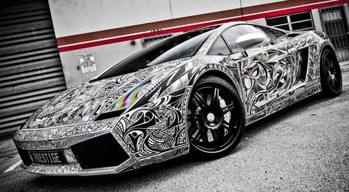 Tattooed Supercars: Street Art Meets Street Racing for the ...