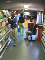 mobile library bus - interior - mid