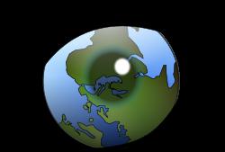 Clipart de Ojo con iris de la bola del mundo