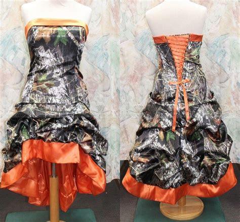 Gothic Knee length Orange Camo Wedding Dresses 2015 New