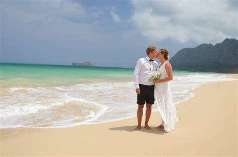 Waimanalo Beach Wedding with Arch & Chairs