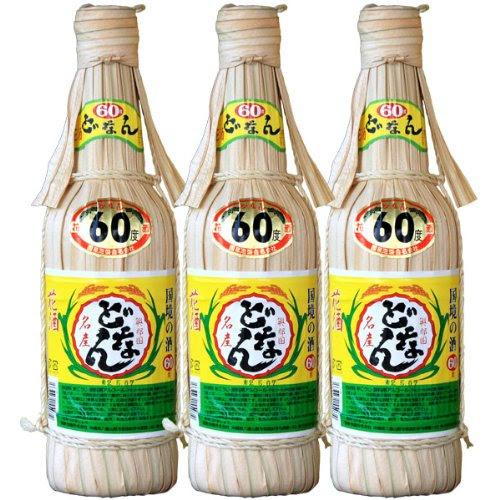 与那国島琉球泡盛 花酒 どなん クバ60度/600ml×3本セット