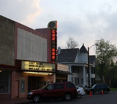 cherokee theatre, downstreet evening