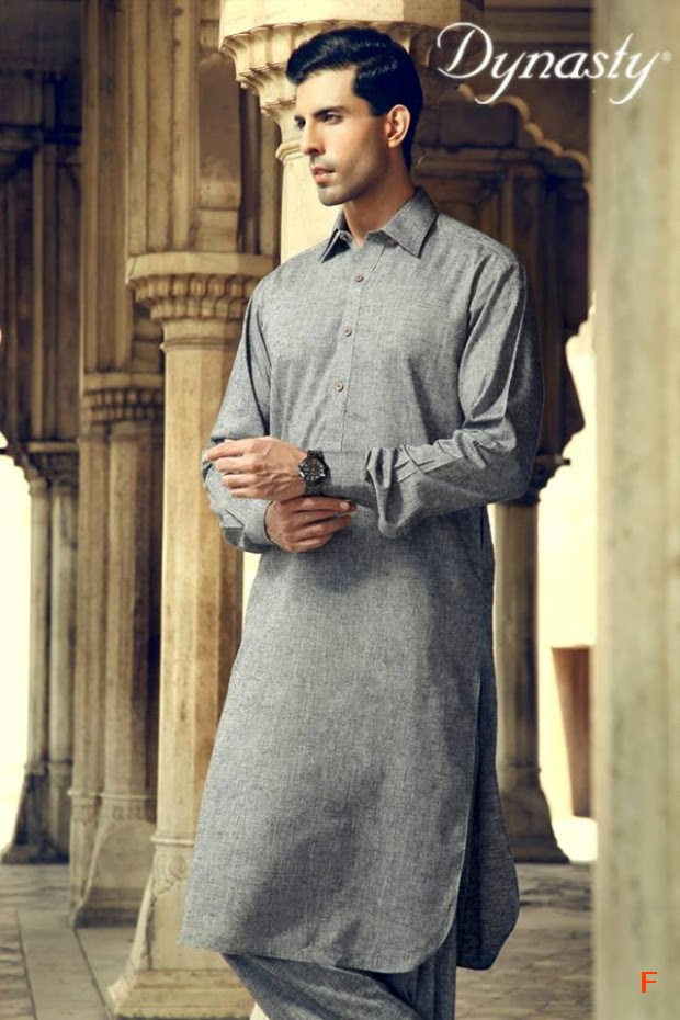 Mens-Wear-Cotton-Embroidered-Kurta-Pajama-By-Dynasty-Fabrics-New-Fall-Collection-2013-14-6