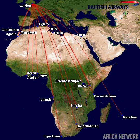 British Airways' Africa Routes