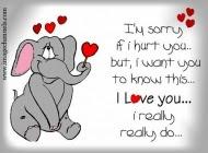 Ich liebe dich es tut mir leid
