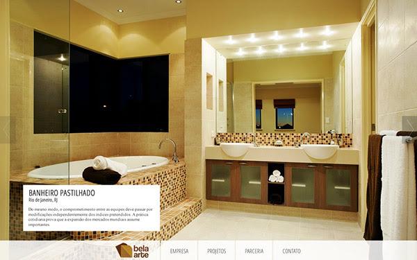 WEB] Bela Arte an interior design website. on Behance