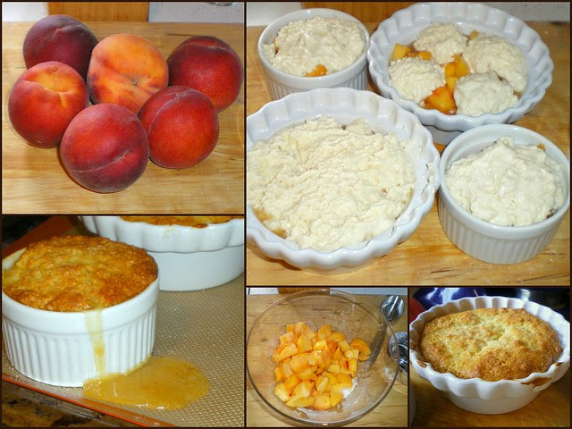 Peach Cobbler Collage
