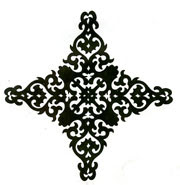 Damask Diamond stamp