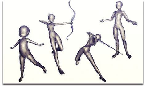 gallery posable anime figure drawing drawings art gallery