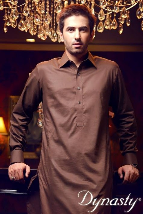 Mens-Wear-Cotton-Embroidered-Kurta-Pajama-By-Dynasty-Fabrics-New-Fall-Collection-2013-14-9