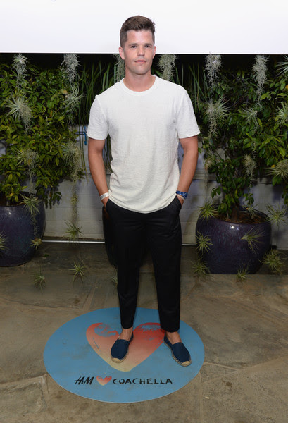 Actor Charlie Carver attends the Official H&M Loves Coachella Party at the Parker Palm Springs on April 10, 2015 in Palm Springs, California.
