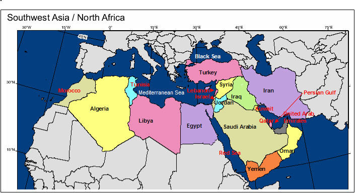 Southeast Asia North Africa Map | Map Of Africa