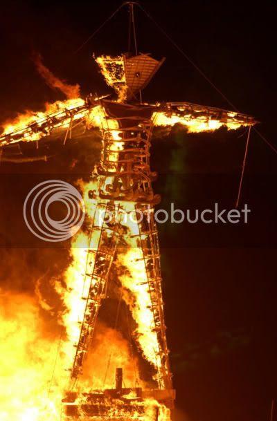 Burning Man like Jesus