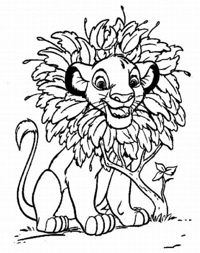 Dibujo De El Rey León Dibujo Para Colorear De El Rey León Dibujos