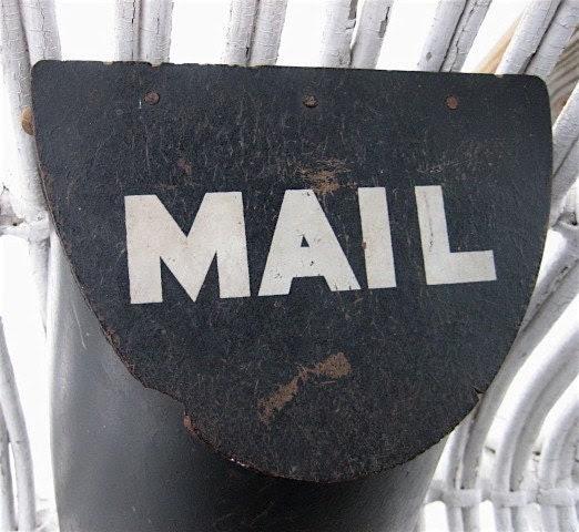 Vintage Wood Mailbox vintagevertigo