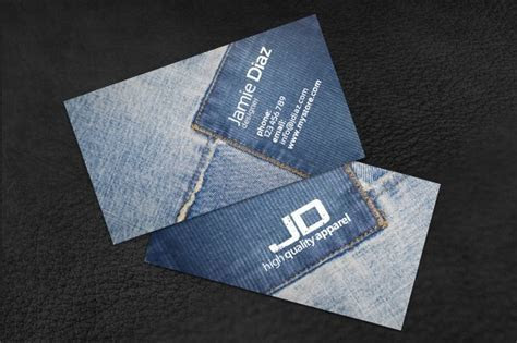 Jeans Card 2 ~ Business Card Templates ~ Creative Market