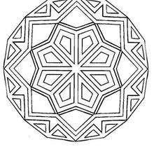 Dibujos Para Colorear Mandala Rosetón Con Rombos Eshellokidscom
