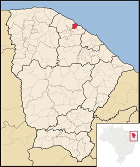 Localização de Paraipaba