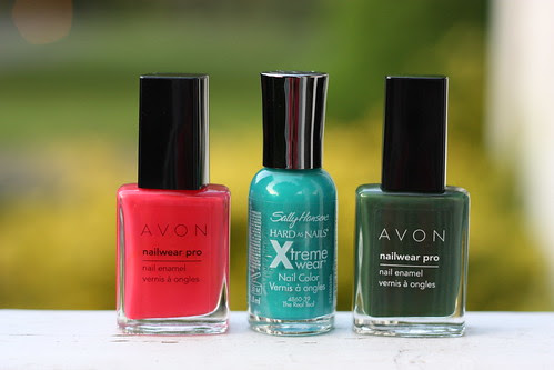 Coral, Turquoise, Olive