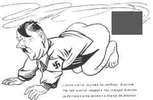 Cartolina erotico-satirica contro Hitler, 1944 circa.