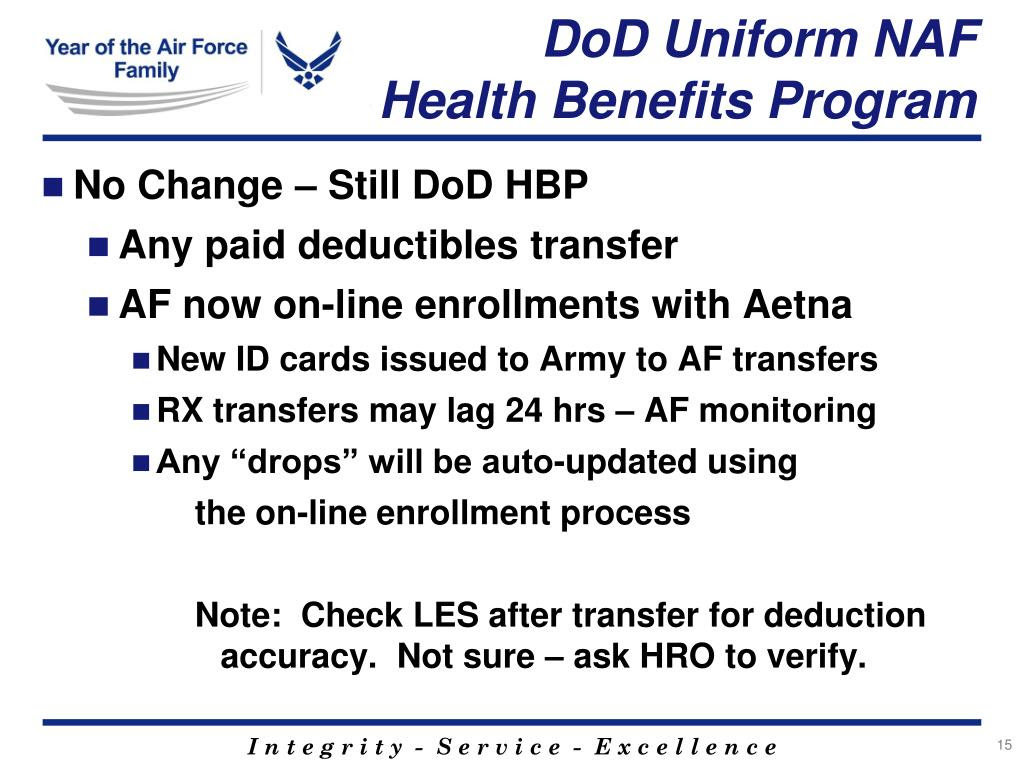 PPT - Air Force NAF Employee Benefits Programs PowerPoint ...