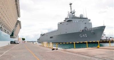 Visitação a navios de guerra da Marinha termina neste domingo