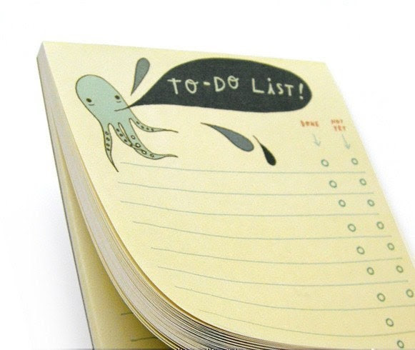 To Do Notepad Octopus to do notebook daily to do by boygirlparty