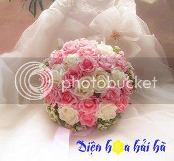Bó hoa đẹp bằng hồng phấn