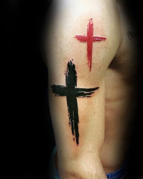 50 Simple Cross Tattoos For Men Religious Ink Design Ideas