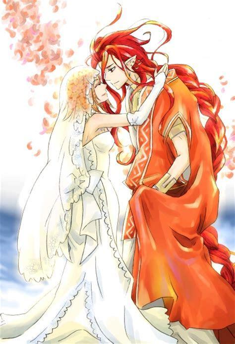Safebooru   1girl angela (harvest moon) braid bridal veil