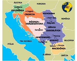 mapa ex-Jugoslávia