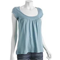 Rebecca Beeson seamist gathered scoopneck t-shirt