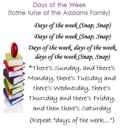 Days Of The Week Song Lyrics Addams Family