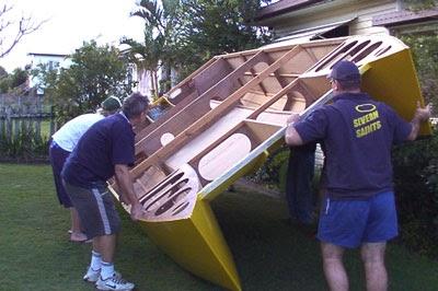 Get small catamaran power boat plans | Download Boat Plans