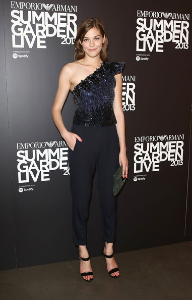 Amber Anderson attends Emporio Armani's Summer Garden Live 2013 on July 16, 2013 in London, England.