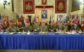 Autoridades militares en la última jornada