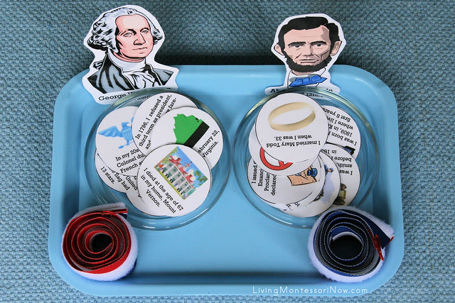 Washington and Lincoln Timeline Tray