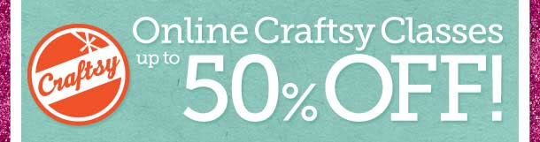 Online Craftsy Classes up to 50% OFF!