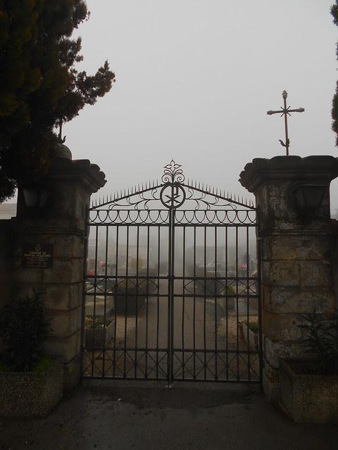 vecchio ingresso del cimitero di Fratta Polesine