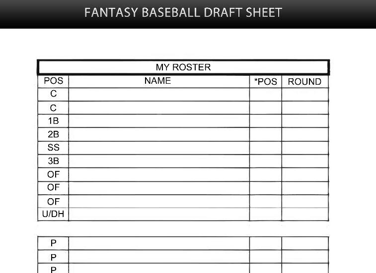 21 Beautiful Fantasy Football Draft Spreadsheet Template 2018