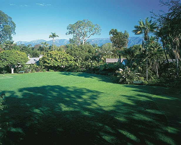 Acres of verdant grounds for croquet or leisurely putting
