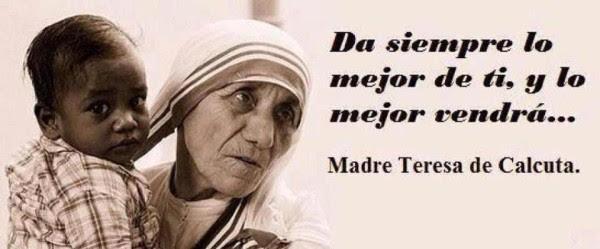 5 Frases De Madre Teresa De Calcuta Bendito Buda