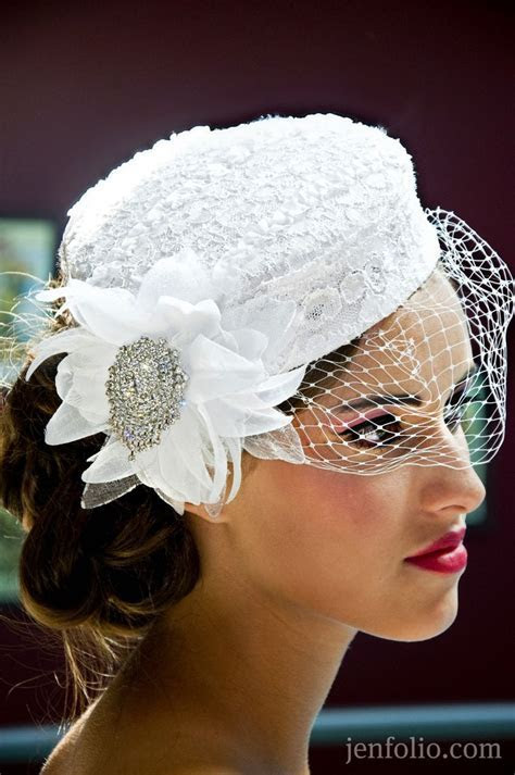 52 best images about bridal hats wedding on Pinterest